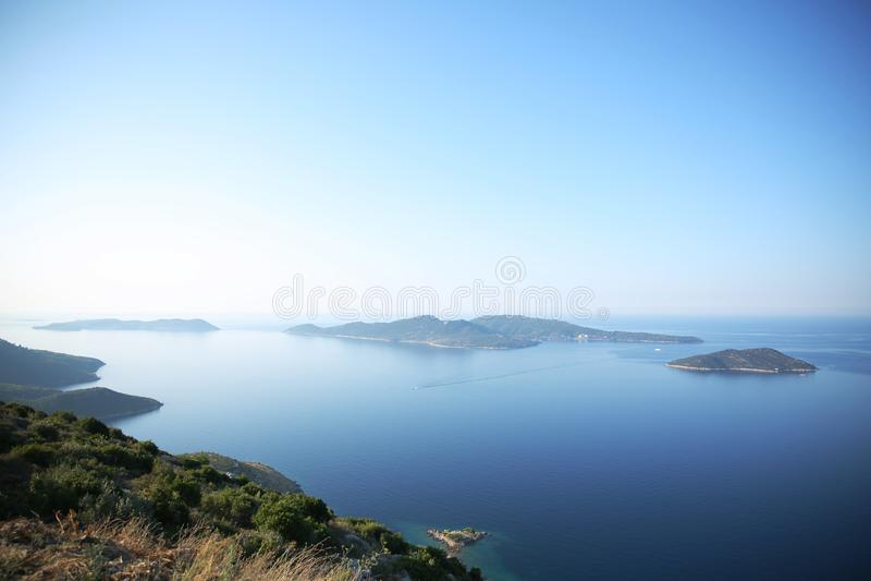 Paisajes croatas de las islas, Croacia imagen de archivo libre de regalías