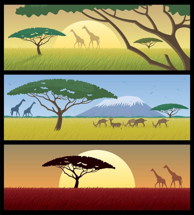 Paisajes de África stock de ilustración
