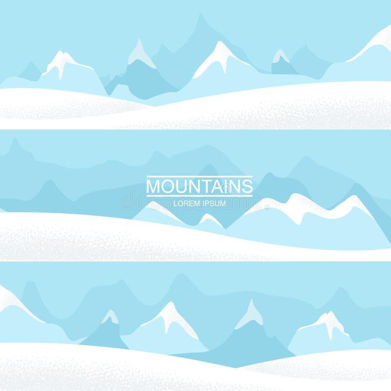 Paisajes de la montaña Graphhics del vector stock de ilustración