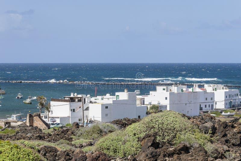 Paisajes de Lanzarote imágenes de archivo libres de regalías
