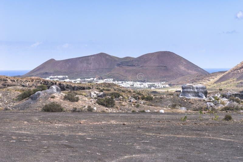 Paisajes de Lanzarote foto de archivo libre de regalías