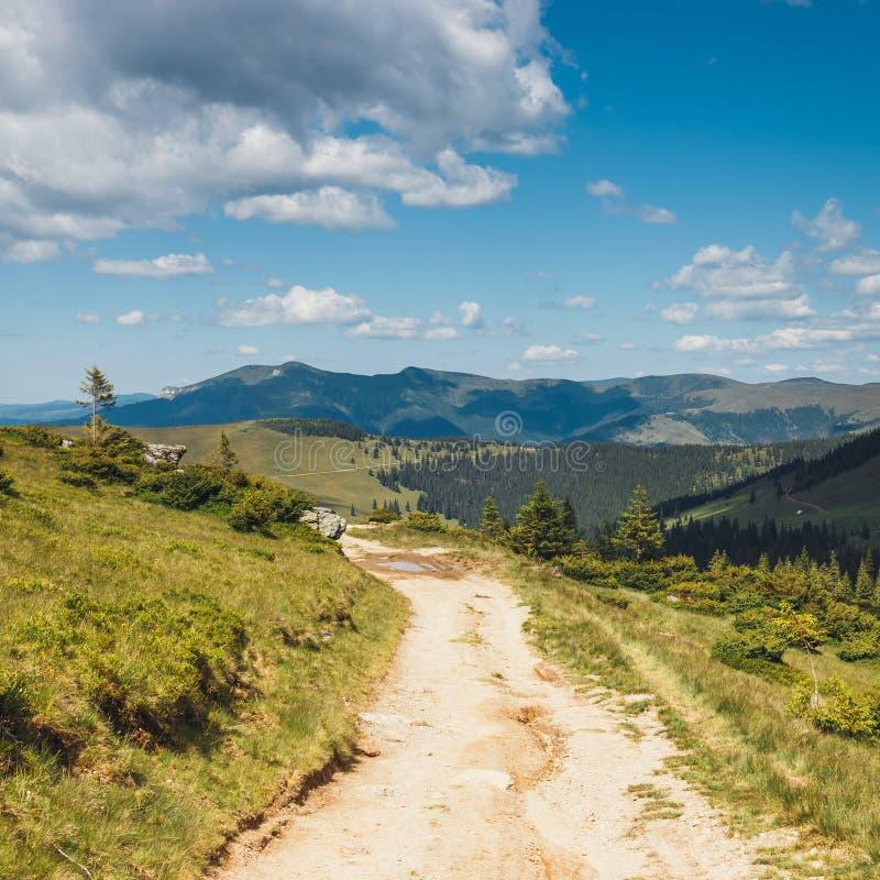 Paisajes de las montañas de Rodna en Cárpatos del este, Rumania fotografía de archivo libre de regalías