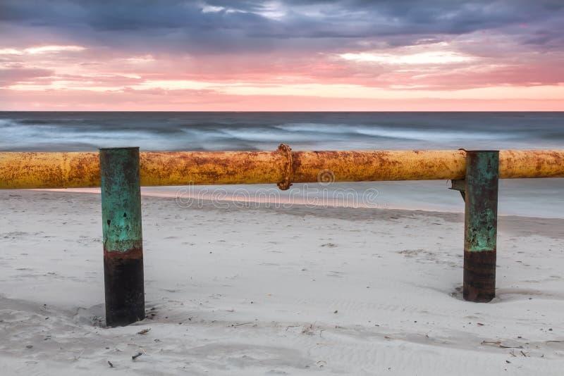 Paisajes de Polonia. Puesta del sol en el mar Báltico. fotografía de archivo libre de regalías