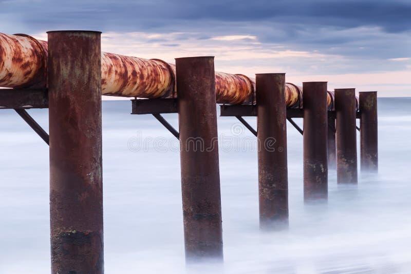 Paisajes de Polonia. Puesta del sol en el mar Báltico. foto de archivo
