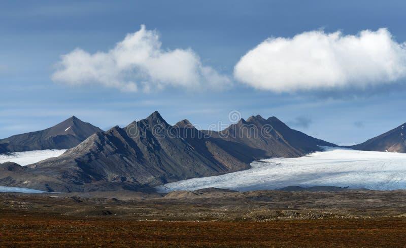 Paisajes de Svalbard/de Spitsbergen fotos de archivo