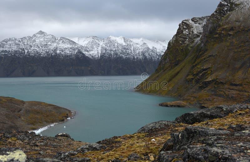Paisajes de Svalbard/de Spitsbergen fotografía de archivo libre de regalías