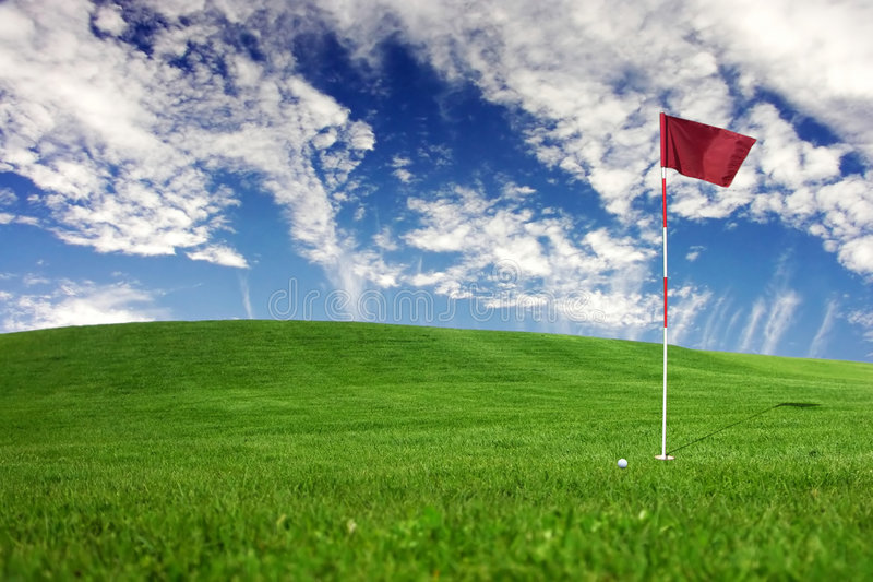 Paisajes - golf fotografía de archivo libre de regalías
