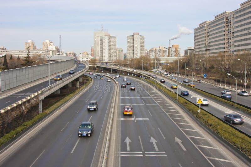 Paisajes urbanos de Pekín, China imágenes de archivo libres de regalías