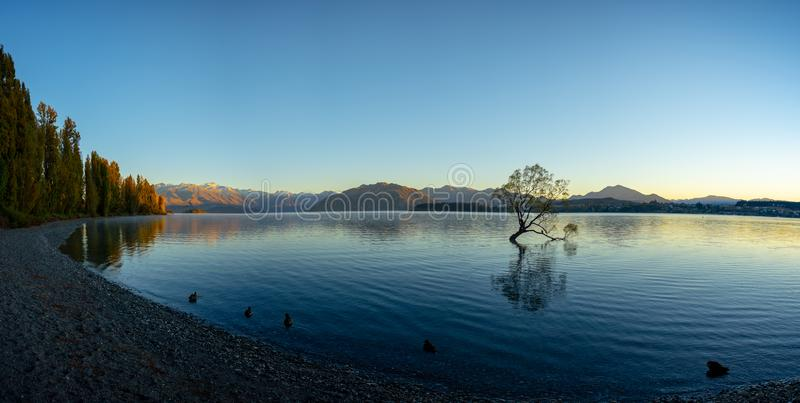 Paisible scénique du wanaka de lac photo stock