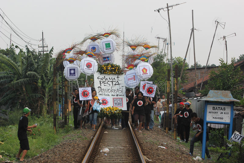 Paisiblement campagne en Indonésie images stock