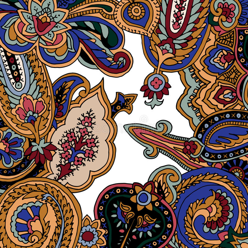 Paisley background royalty free illustration