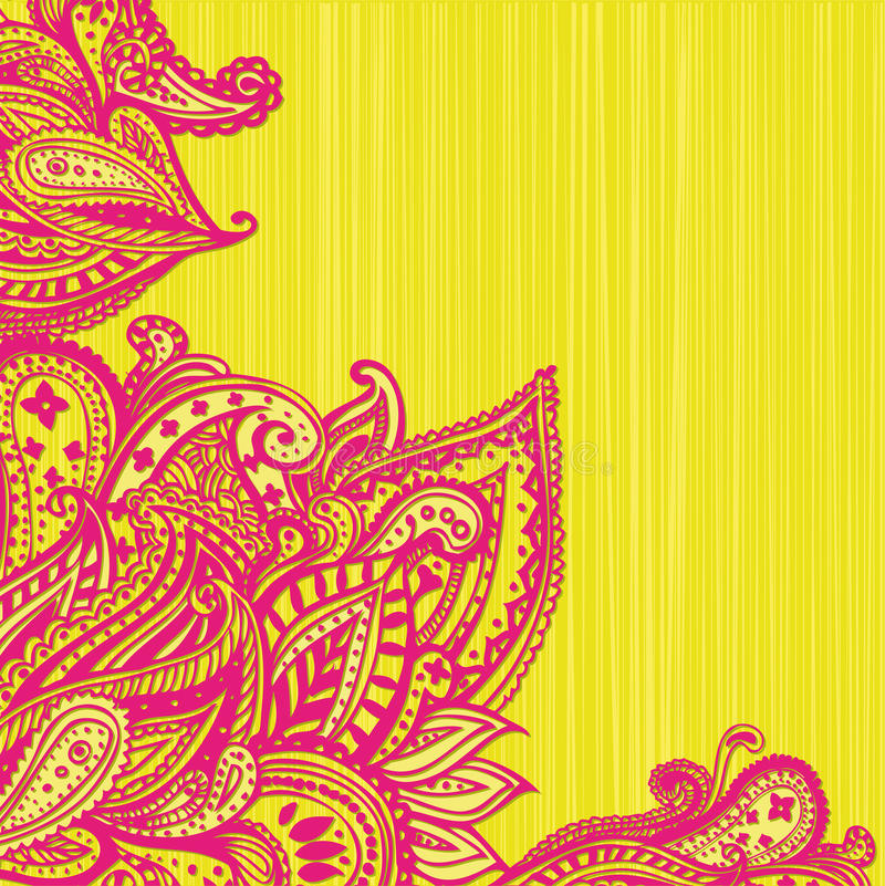 Paisley bakgrund stock illustrationer