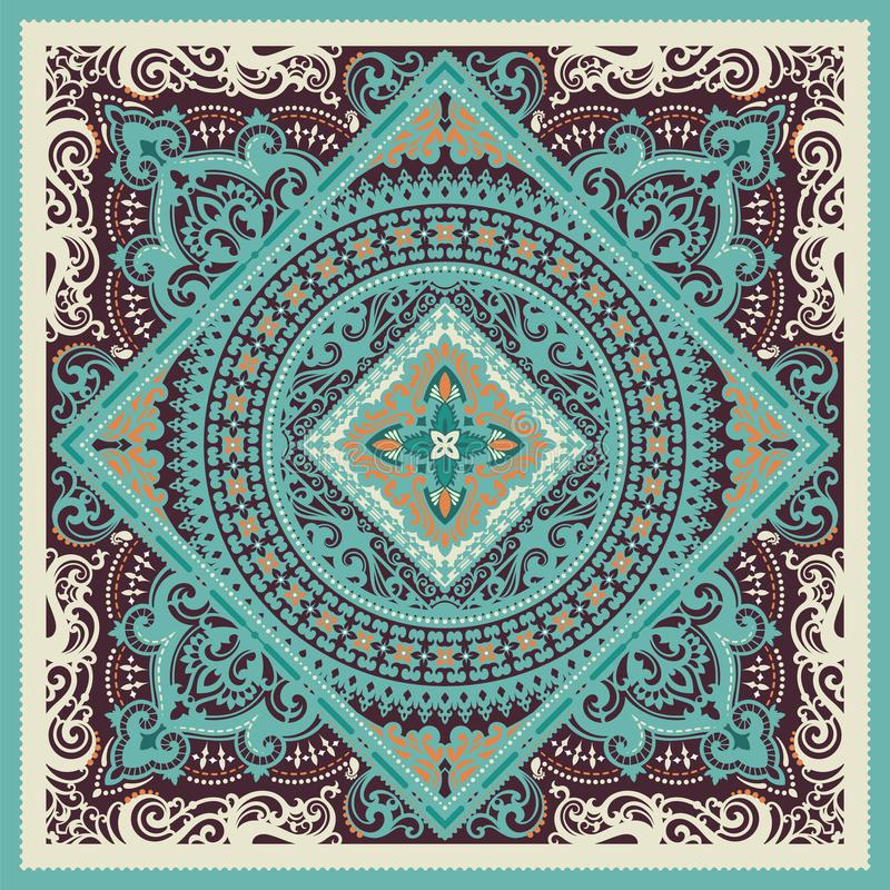 Paisley Bandana print vector illustration