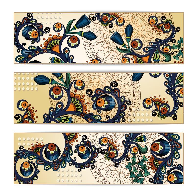 Paisley Batik Background. Ethnic Tribal Cards. Stock