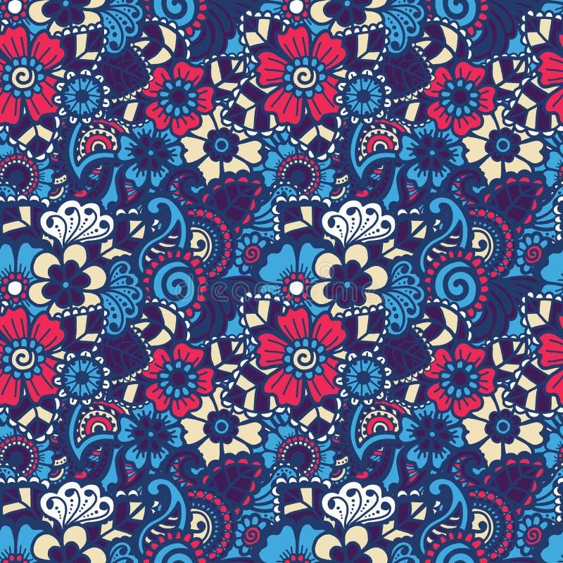 Paisley bezszwowy kolorowy wzór royalty ilustracja