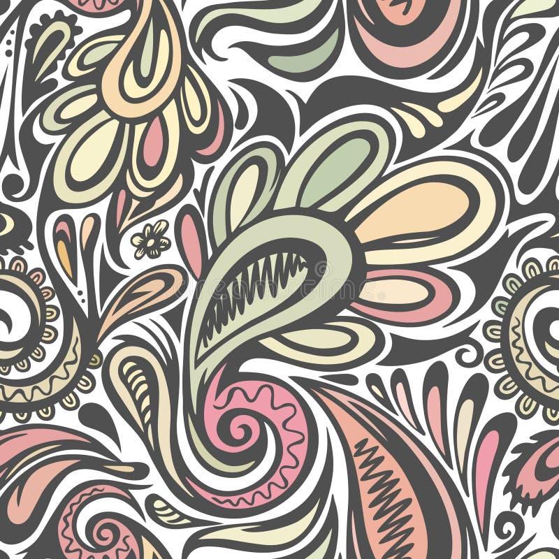 Paisley bezszwowy wzór ilustracja wektor