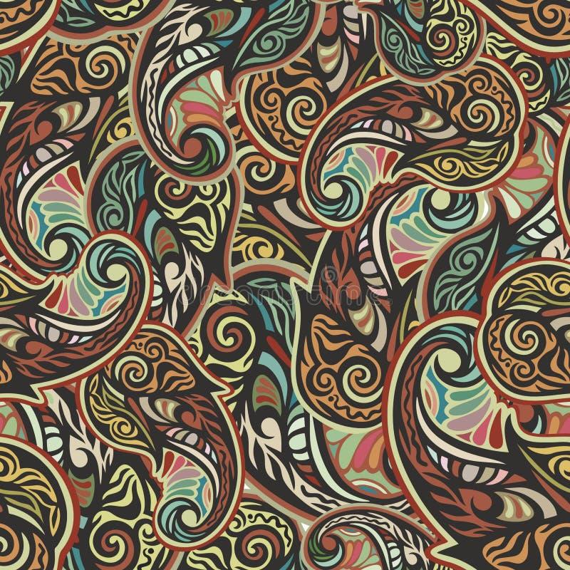 Paisley bezszwowy wzór ilustracji