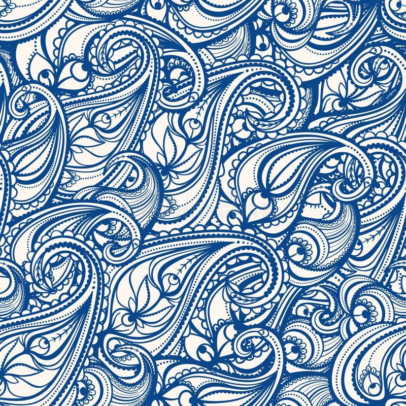 Paisley bleu illustration libre de droits
