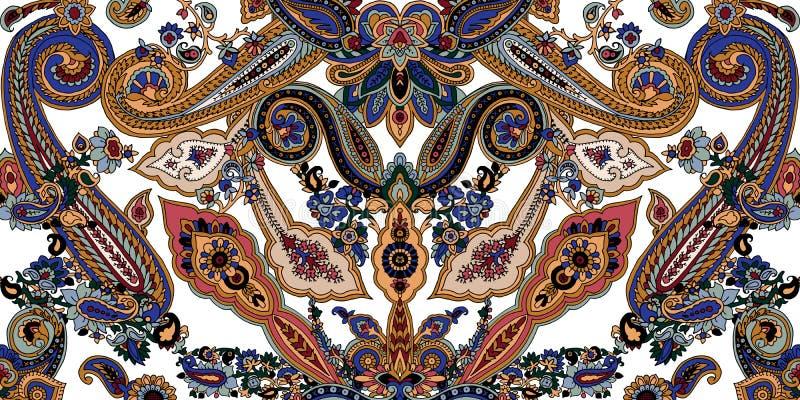Paisley bohomodell vektor illustrationer