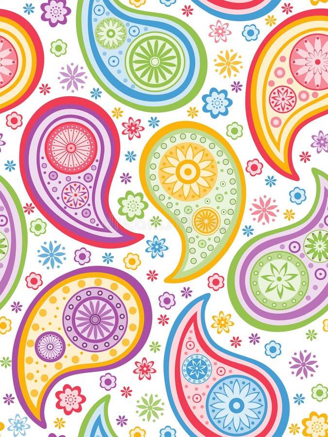 Paisley colorido sem emenda. ilustração royalty free