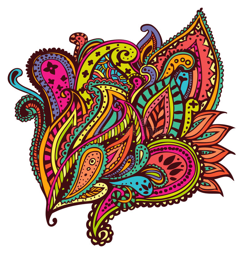 Download Paisley design stock illustration. Illustration of multicolor - 33302952