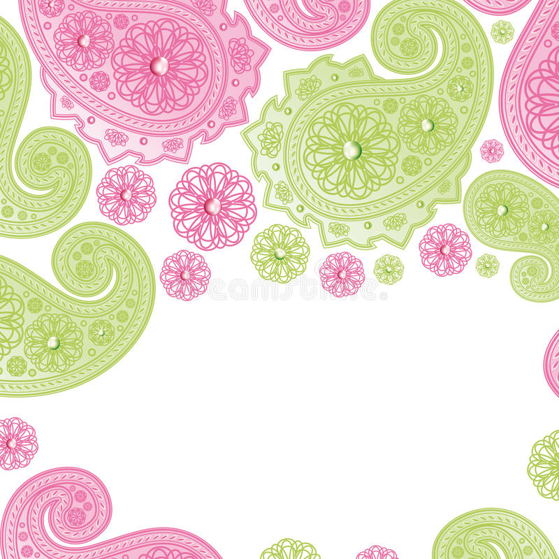 Download Paisley Designs. stock vector. Image of pink, tile, curves - 14739191
