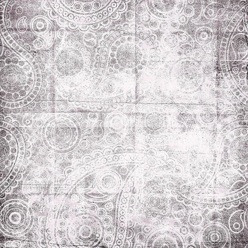 Paisley desvanecido ornaments a textura ilustração stock