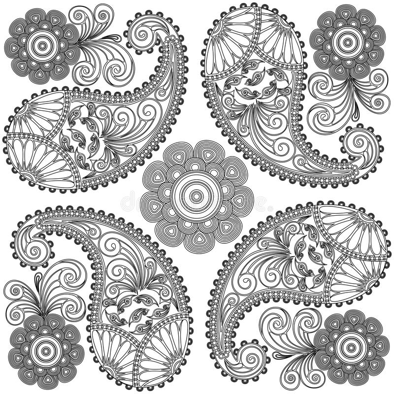 Paisley Doodles black And White
