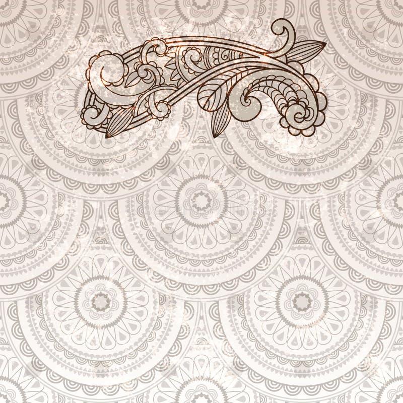 Paisley element on seamless stock illustration