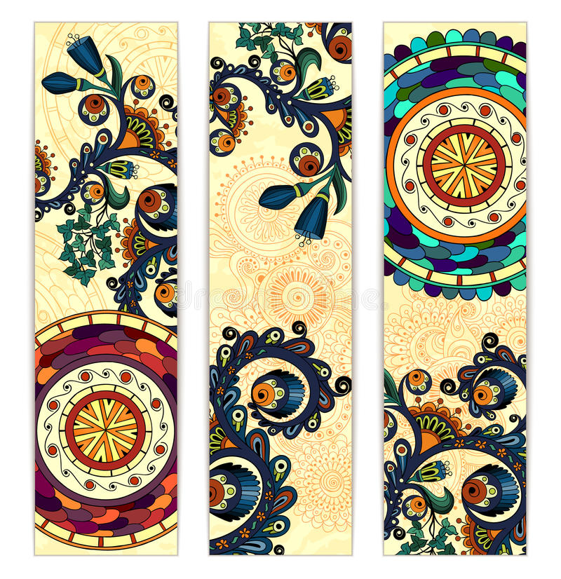 Paisley Ethnic Batik Backgrounds Stock Vector - Illustration of ...