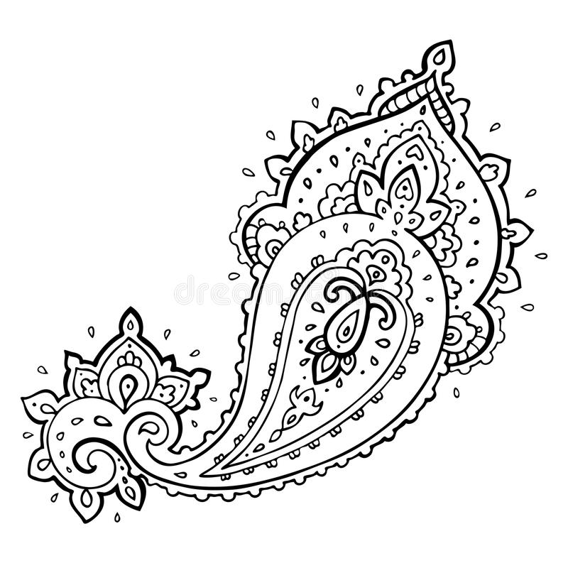 Paisley Pattern Tattoo Images Designs: Paisley. Ethnic Ornament. Stock Illustration. Illustration