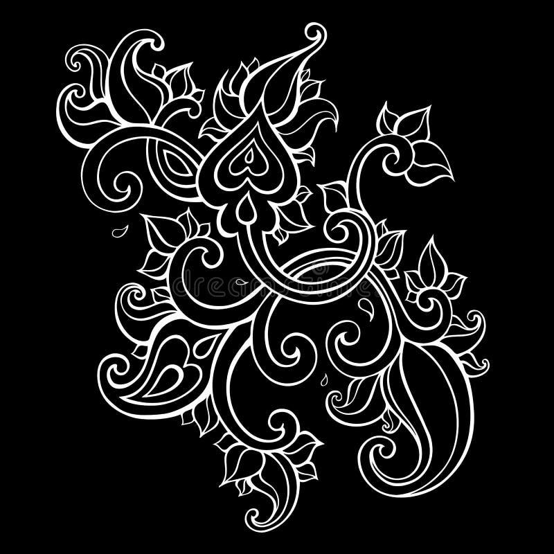 Paisley etnisk prydnad royaltyfri illustrationer