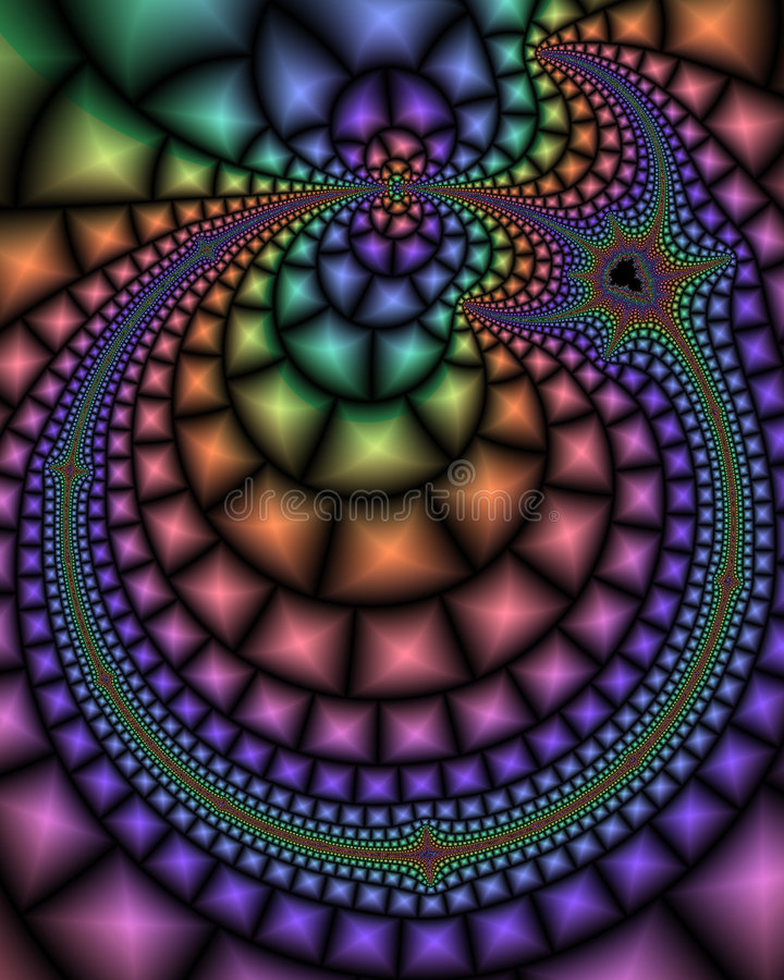 Paisley Fractal stock images