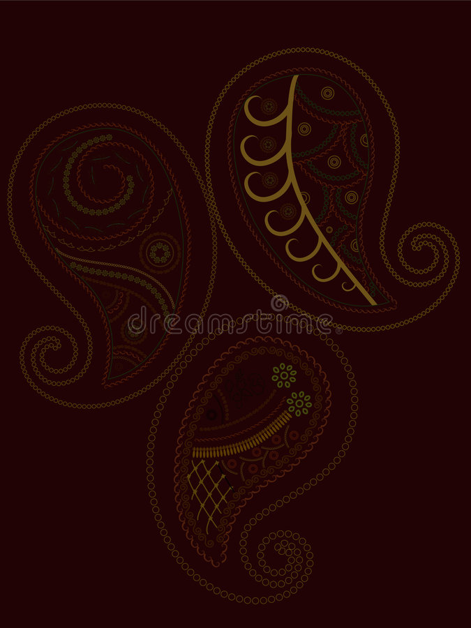 Paisley-Hennastrauch lizenzfreie abbildung