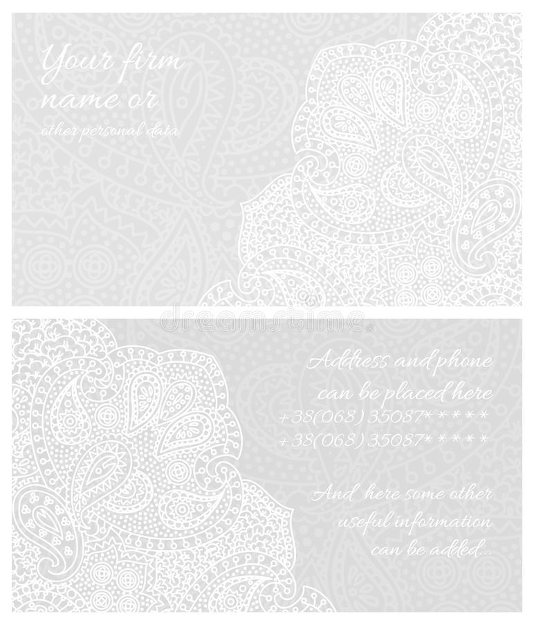 Paisley lace business card stock illustration