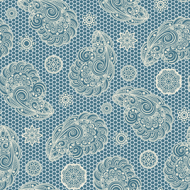 Paisley lace pattern royalty free illustration