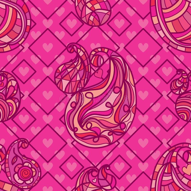 Paisley litar paisley den ensamma sömlösa modellen royaltyfri illustrationer