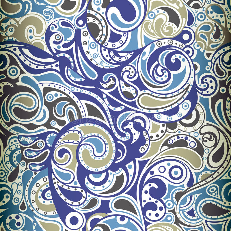 Paisley modell vektor illustrationer