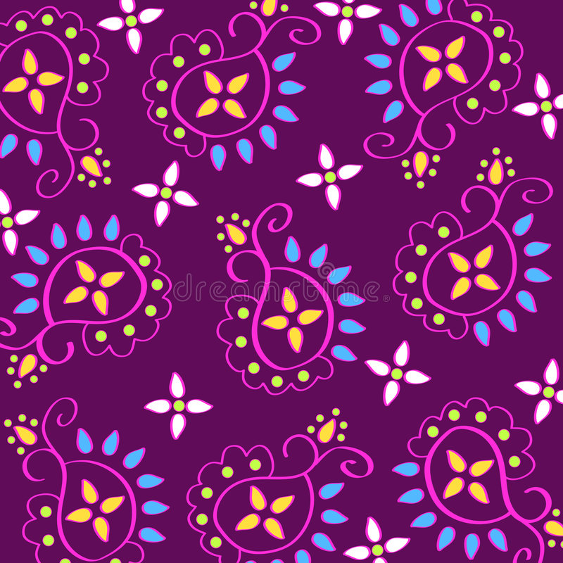 paisley modell stock illustrationer