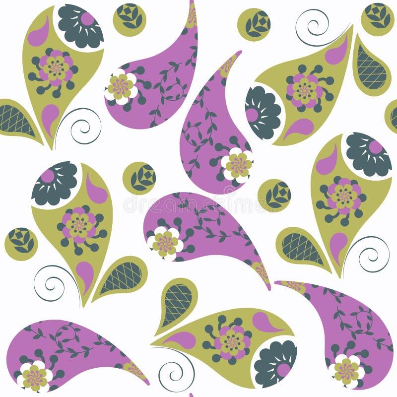 Paisley-nahtloses Muster Es ist im Mustermenü, Vektor vektor abbildung