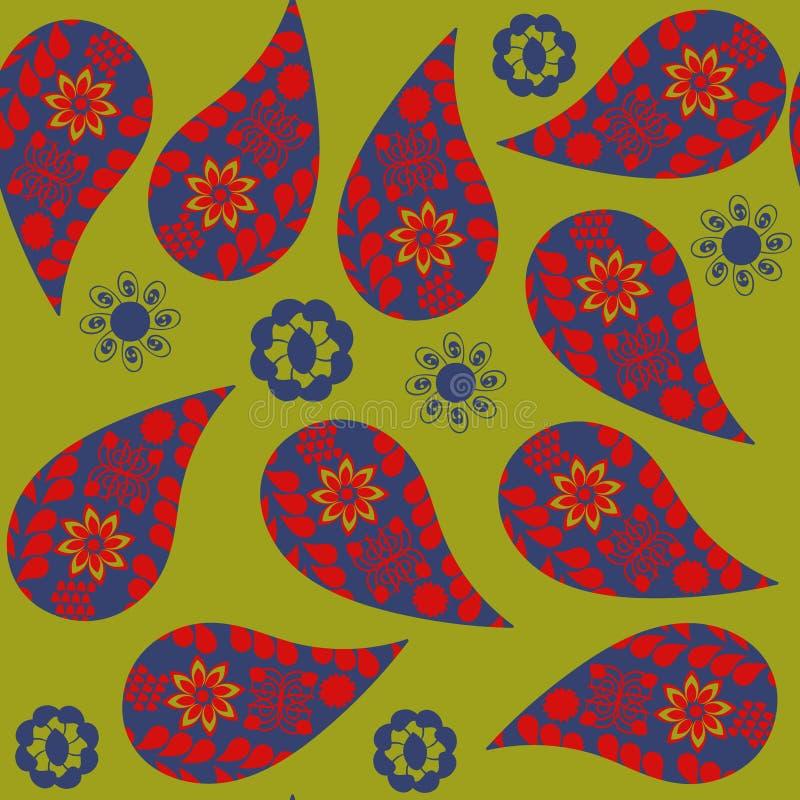 Paisley-nahtloses Muster Es ist im Mustermenü, Vektor stock abbildung
