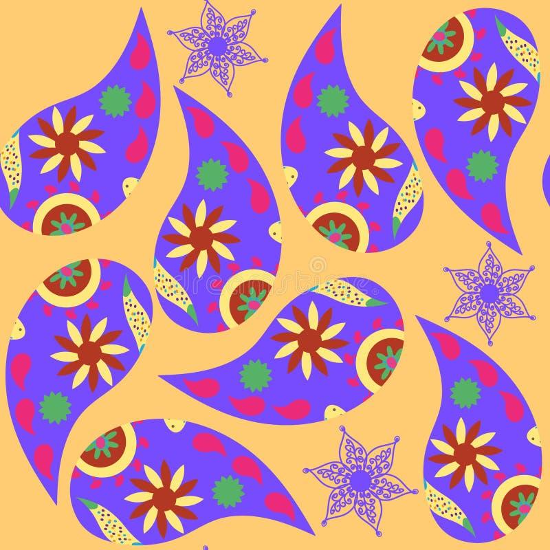 Paisley-nahtloses Muster Es ist im Mustermenü, Vektor lizenzfreie abbildung