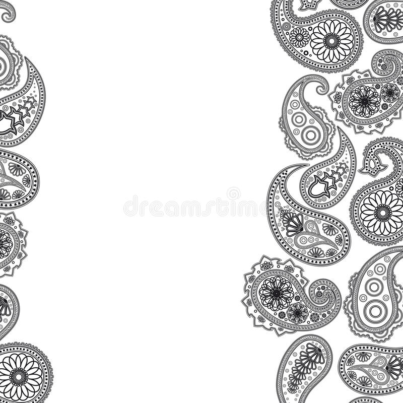 Paisley-Oberfläche. lizenzfreie abbildung