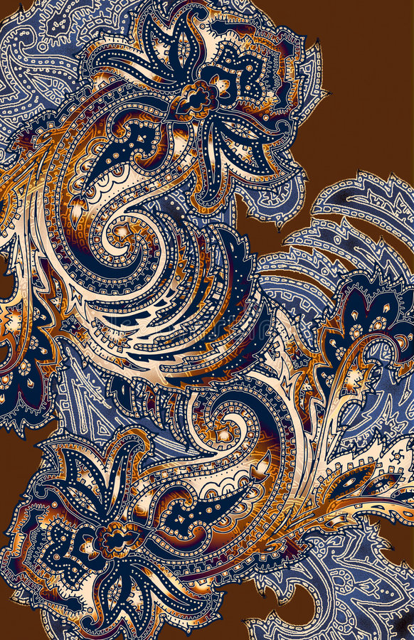 Paisley occidental illustration de vecteur