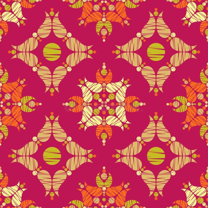 Paisley ornament. Ethnic boho seamless pattern. Ikat. Traditional ornament. Folk motif. royalty free stock photo