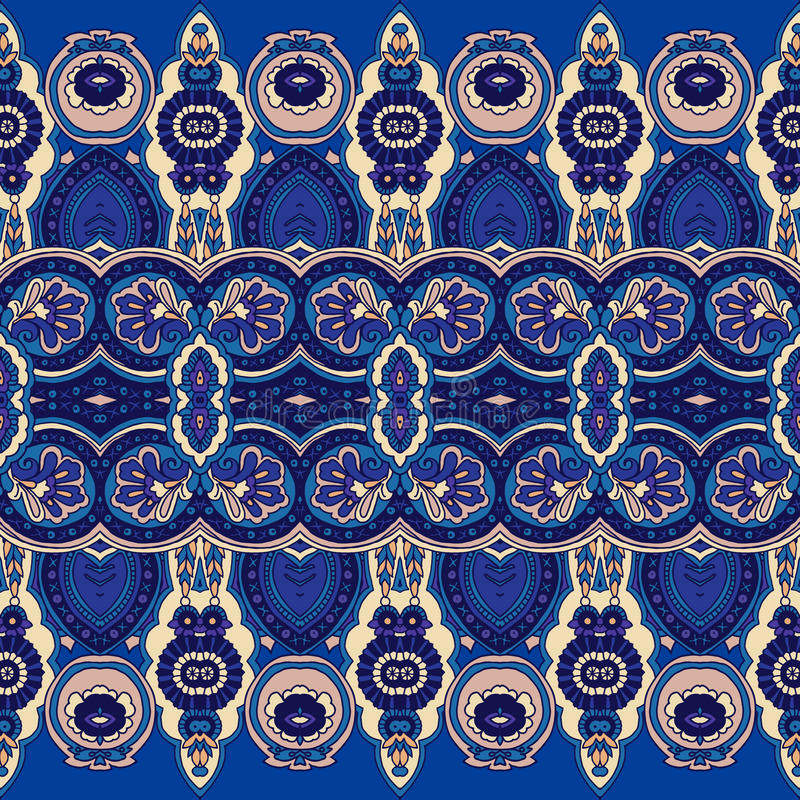 Paisley ornamentu tło ilustracja wektor