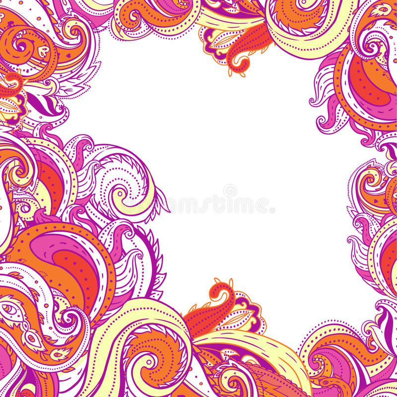 Paisley patterned frame
