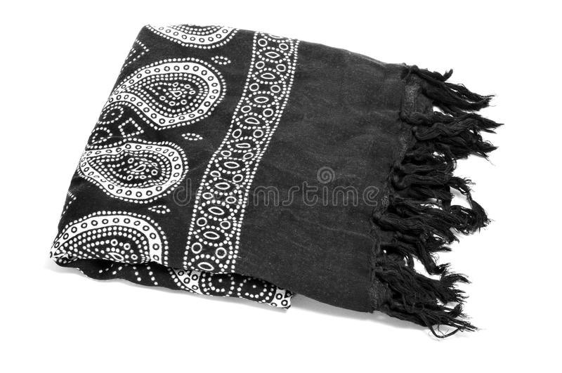 Paisley patterned pareo. A paisley patterned pareo on a white background royalty free stock images