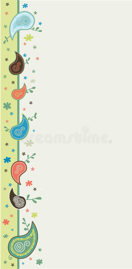 paisley rabatowy definitywny lampas ilustracji