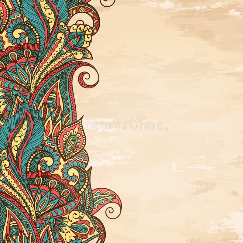Paisley rama royalty ilustracja